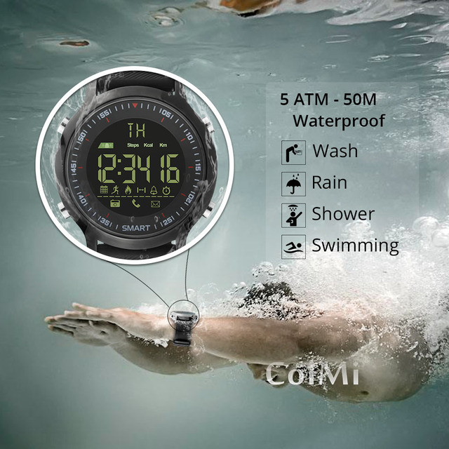Hiup Smart Watch Waterproof Ip68 5atm P Ometer Message Reminder Ultra Long Standby Xwatch Outdoor Swimming