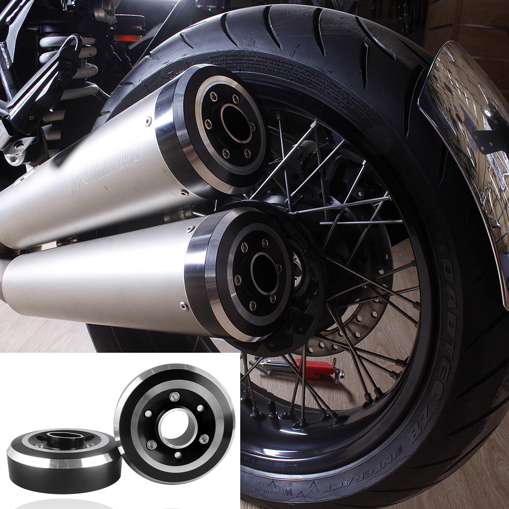 Motorcycle Accessories CNC Aluminum Exhaust Muffler Tip Tail Cover for 2014-2016 BMW R Nine T 2015 14-16 rsd motorcycle 5 hole beveled derby cover aluminum for harley touring flh t 2016 2017 for flhtcul and flhtkl 2015 2016 2017