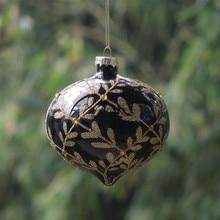 Посеребренный стеклянный шар для рукоделия, Рождественские елочные украшения, Рождественский день, декоративная подвеска, Рождественская елка, висящий глобус, оливковый