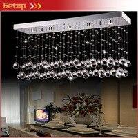 Getop современные потолочные светильники светодио дный кристалл лампы Ресторан Crystal Light K9 хрустальный шар прямоугольные Входная освещения по