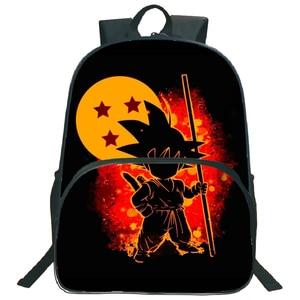 Image 4 - Hermosos bolsos de Dragon Ball Z Goku para niños, mochila para niños y niñas, mochila para portátil con patrón colorido a la moda, para volver a la escuela