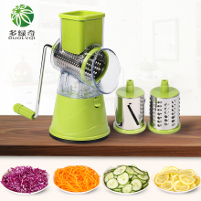 DUOLVQI Vegetable Cutter Mandolin Round Slicer Carrot Potato Slicer With 3 Stainless steel Blades