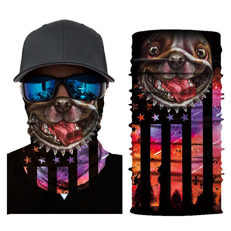 Outdoor riding masker 3D magische dier tijger outdoor sport vissen paardrijden masker bib kap sjaal zweet-proof lood riem leeuw tig