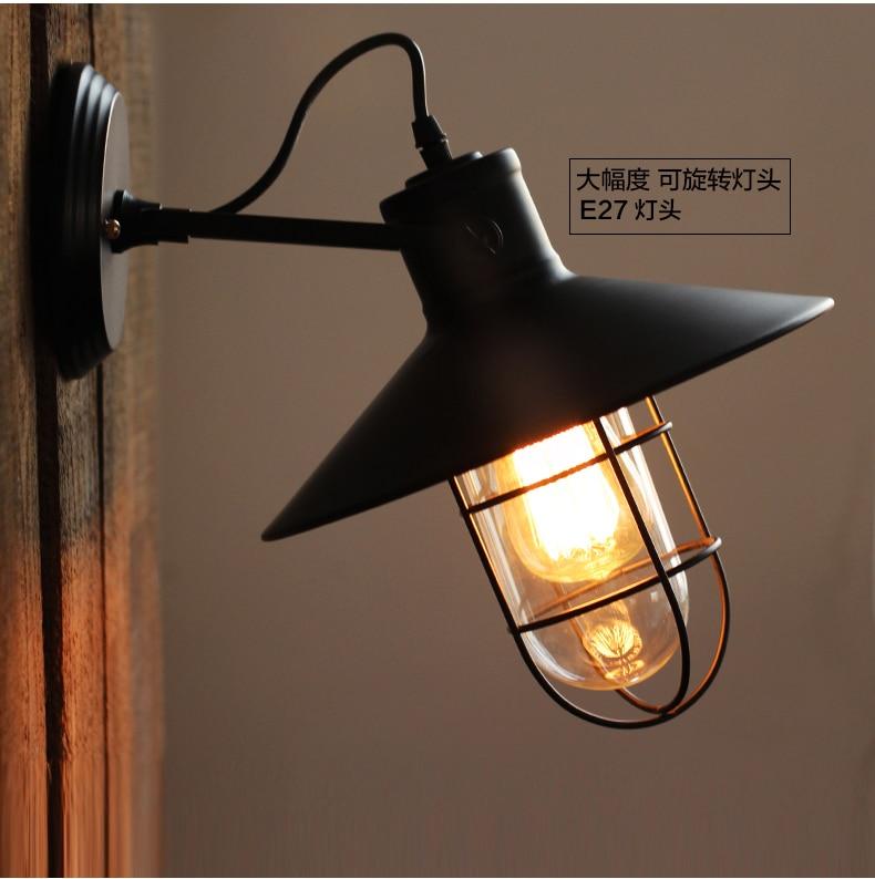 ФОТО American country personality retro bedside lamp loft corridor balcony Bar Cafe Wall Lights Lamp Lighting outdoor clothing store