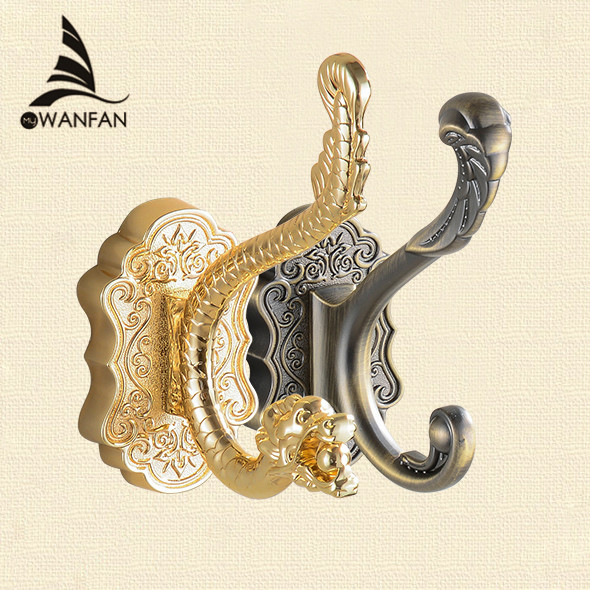 Robe Hooks Metal Towel Hanger Hooks For Clothes Coat Hat Bag Hooks Wall Mount Bathroom Accessories Door Towel Hook Holder 8001 xueqin stainless steel 4 hooks coat hat clothes robe holder bathroom rack hooks wall hanger wall mounted bathroom accessories