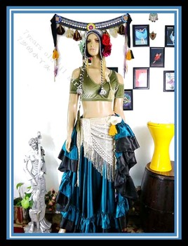 Velvet  Fat  Chance Tribal Choli belly  dance costume drop short  sleeve  top  FB44 belly dance top ats tribal belly dance top lace choli lantern sleeve top women s belly dance costume fqq03