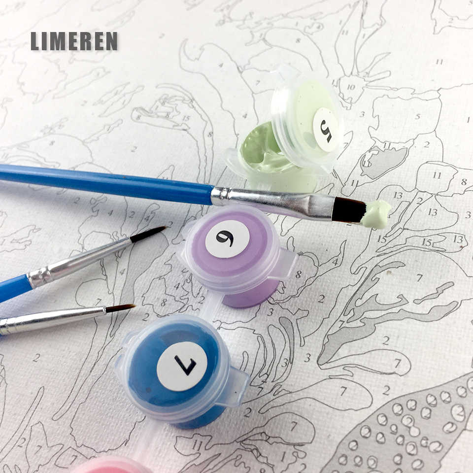 Цифровая масляная краска Diy ing по номерам Фигурка декоративная картина на стену на холст, масляная краска Раскраска по номерам рисунок животные Лебедь