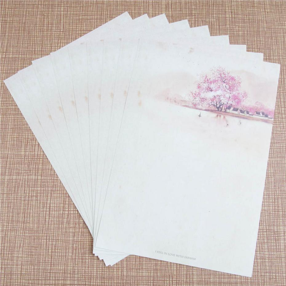 online buy whole letter writing paper from letter 8 pcs pack chinese style cherry blossom festival letter paper vintage watercolor writing paper