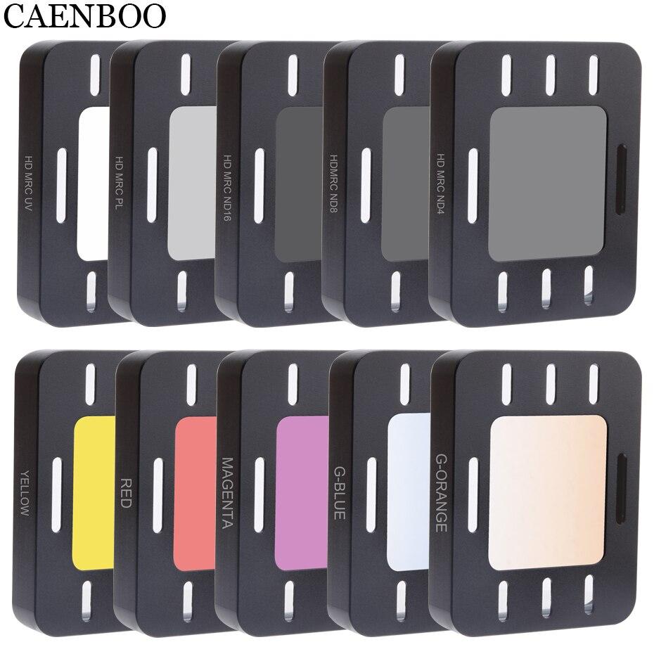 CAENBOO acción Cámara filtro UV MRC CPL Color ND4 8 16 para Sony HDR-AS50 AS50R AS300 AS300R X3000R MPK-UWH1 buceo caso de vivienda