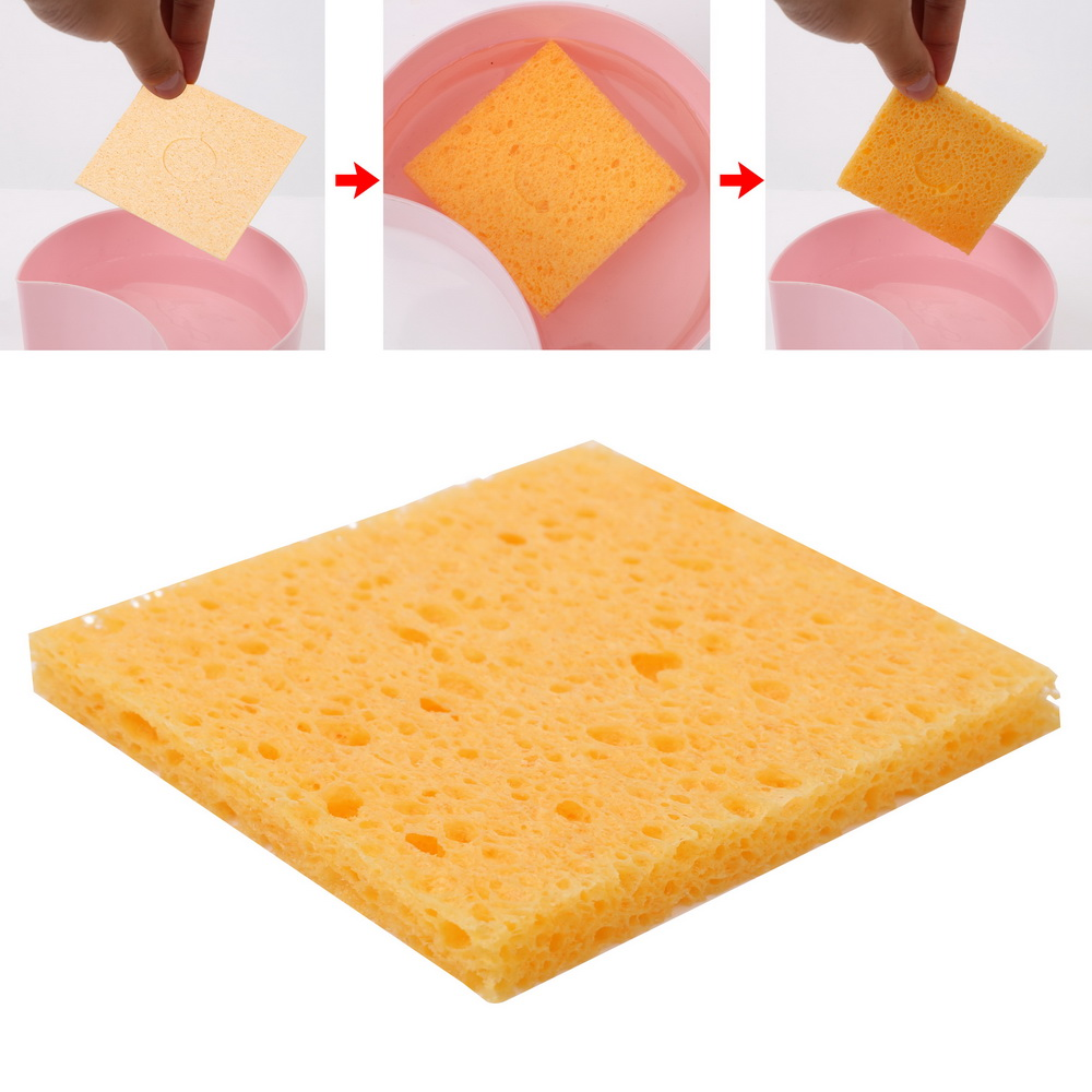 DIYWORK 2 Piece 6cm*6cm  Soldering Iron Tip Welding Cleaning Sponge Pads  Soldering Iron Replacement Sponges Universal