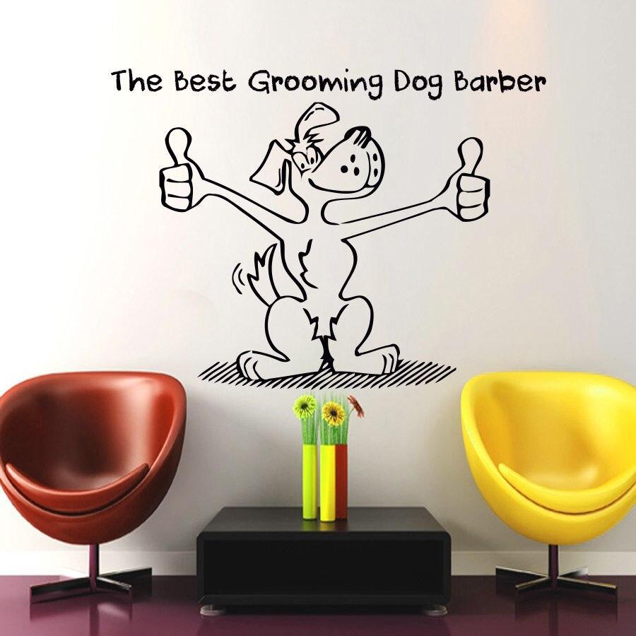 Dog Grooming Salon Pet Shop Sticker font b Decal b font Posters Vinyl font b Wall