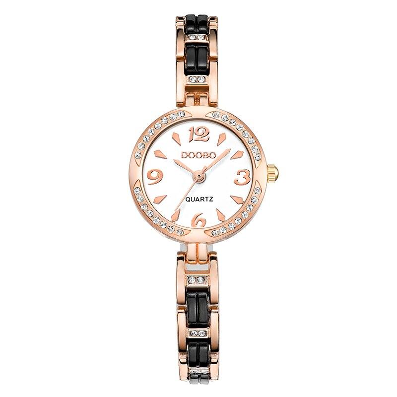 DOOBO luksusowa Moda damska zegarki zegarek kwarcowy bransoletka - Zegarki damskie - Zdjęcie 2