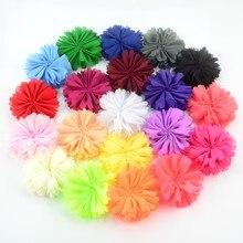 50 шт./лот, 20 цветов, на выбор, 6 см, маленькие шифоновые цветы, балерина, незавершенная, сделай сам, для праздника, свадьбы, для невесты, для девочек, повязка на голову TH220