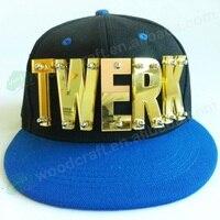 Hot Selling Acryl hiphop Stuk TWERK Hoed Mode Baseball Punk Cap Snelle verzending vrouwelijke spikes