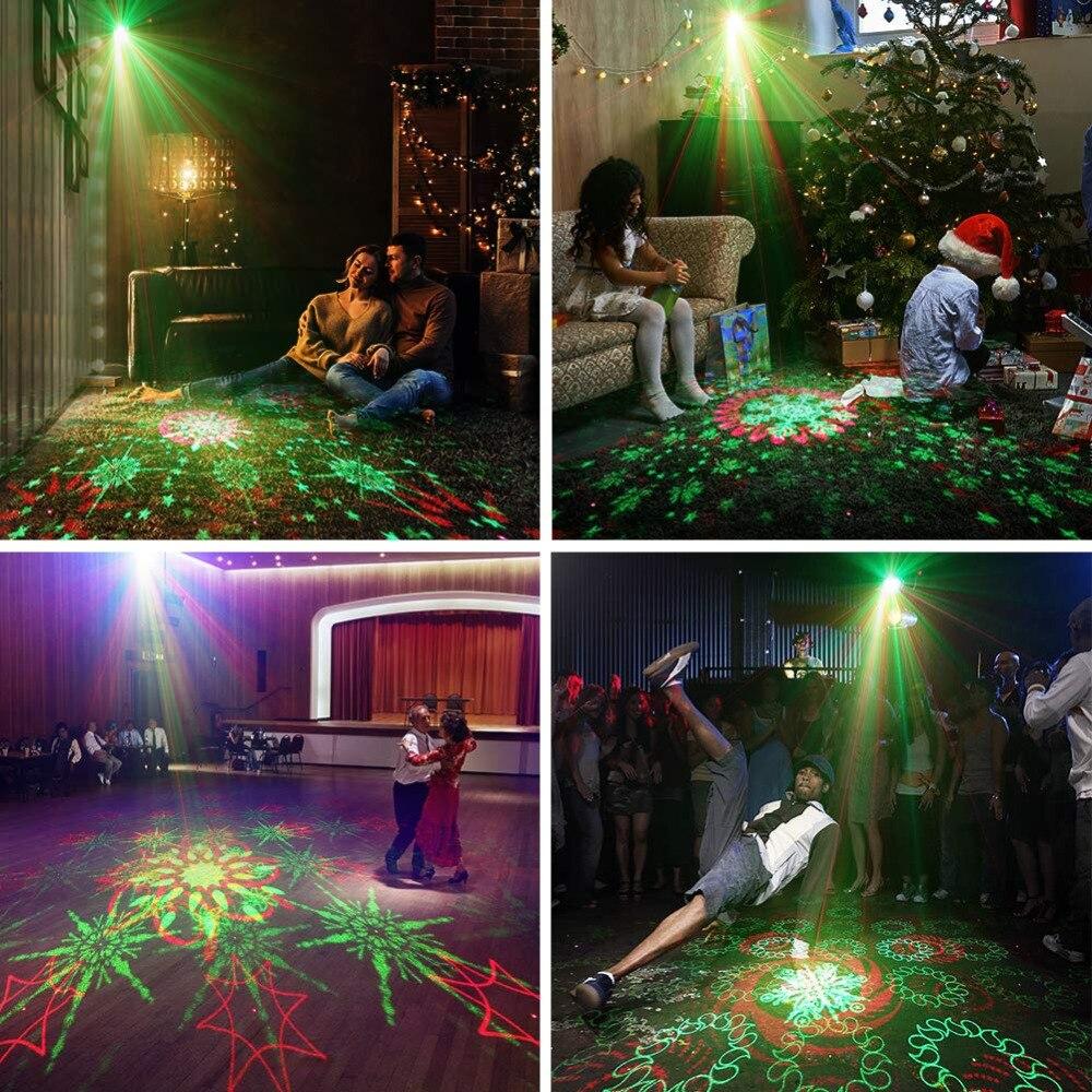 128 Patterns Projecteur DJ Laser Stage Light RG rouge vert Bleu LED - Éclairage commercial - Photo 5