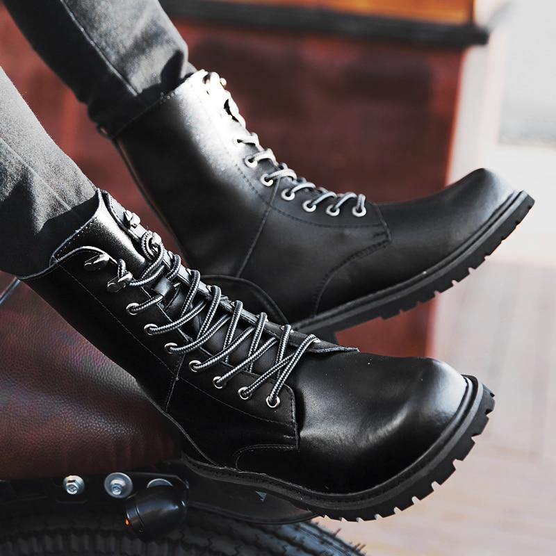 Los Hombre Con Más winter De black Antideslizante Cuero Casuales Bota Botas Brown Para Tamaño Zapatos Calzado 47 Trabajo Hombres Piel brown Winter Invierno 37 Black rYqw6r8