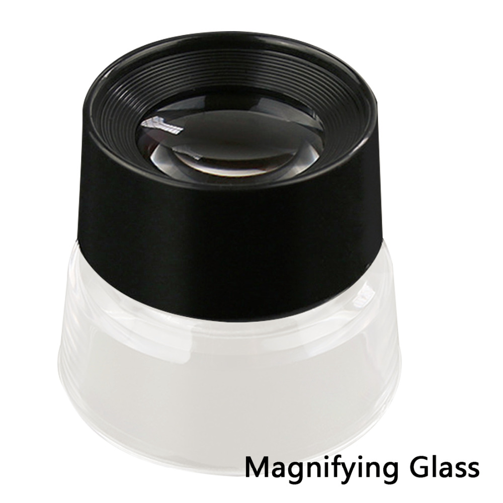 55x40mm 10X Magnifying Glass Magnifiers Portable Magnification Microscope For Reading Jeweler Stamp Antique