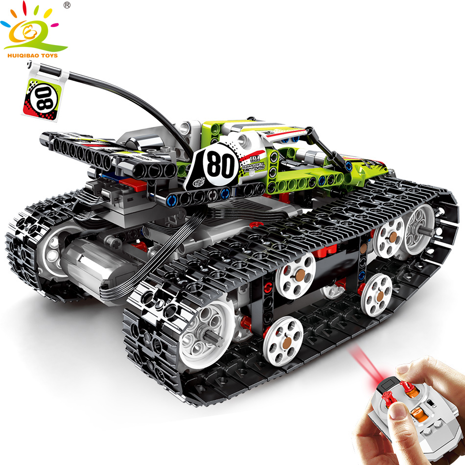 430pcs Remote control off road track motor Vehicle Building Blocks Technic RC Car Enlighten Bricks Toys for Children-in Blocks from Toys & Hobbies    3