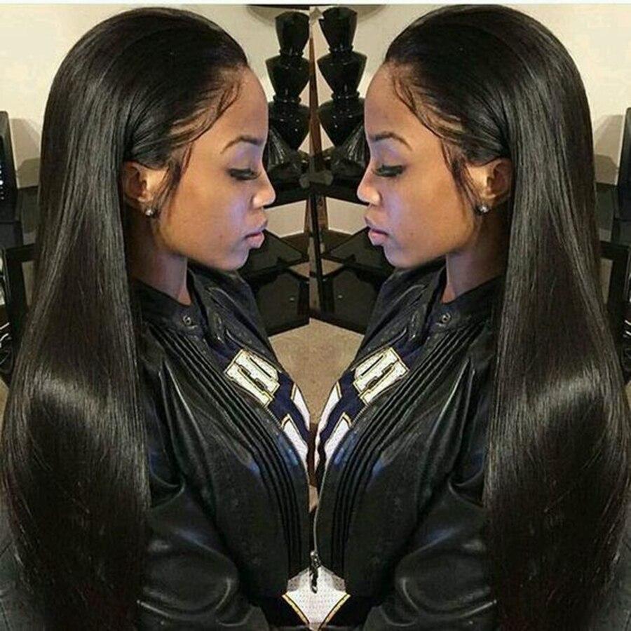 Peluca de pelo Remy brasileña de la parte libre de las pelucas del pelo humano del cordón recto de Alicrown 8