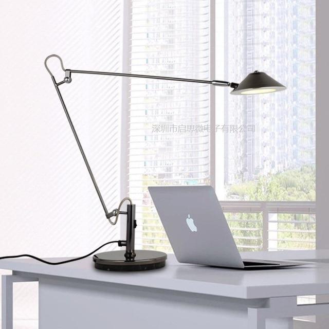 Eye Protection Long Swing Arm Desk Lamp Led Table Office Reading Light Home Lampe