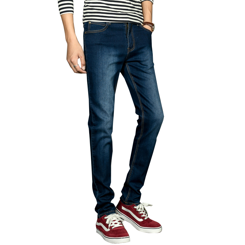 Mens Jeans Summer Thin Business Casual Slim Straight Jeans Stretch Denim Pants Trousers Classic Cowboys Young Man Jeans
