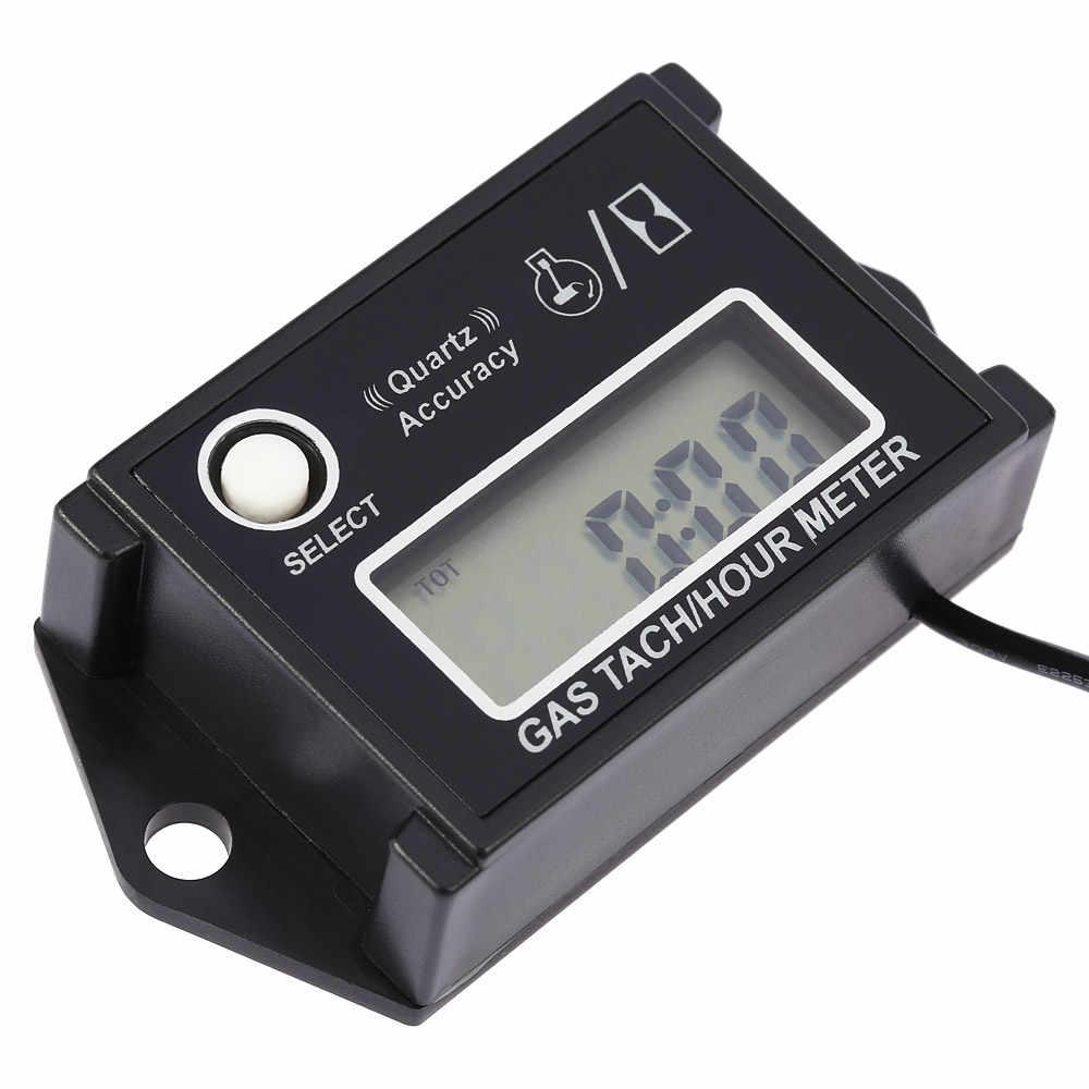 Tachymètre numérique LCD Tach/heure compteur t/mn testeur termometro pour moteur 2/4 temps motos tachymètre moteur