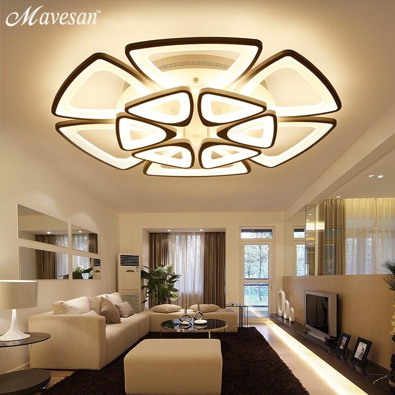 NOUVEAU Moderne Lustres LED Pour Salon chambre salle À Manger Luminaire Lustre Plafond lampe Gradation d'éclairage domestique luminarias
