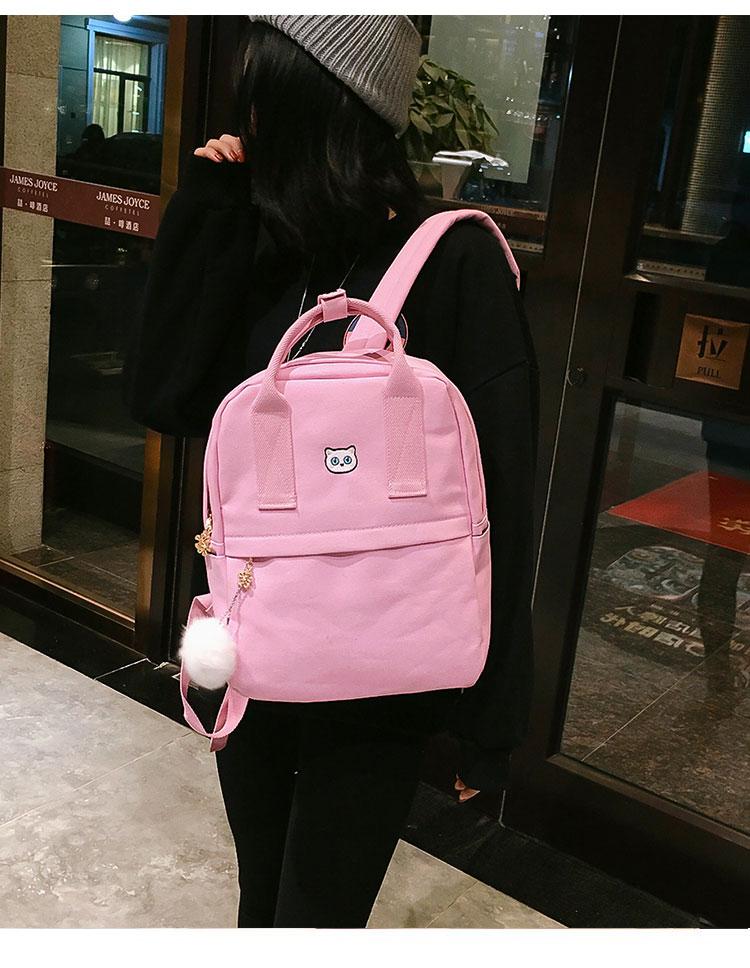 ab21f5640c8a Women Backpack for School Teenagers Girls Vintage Stylish School Bag ...