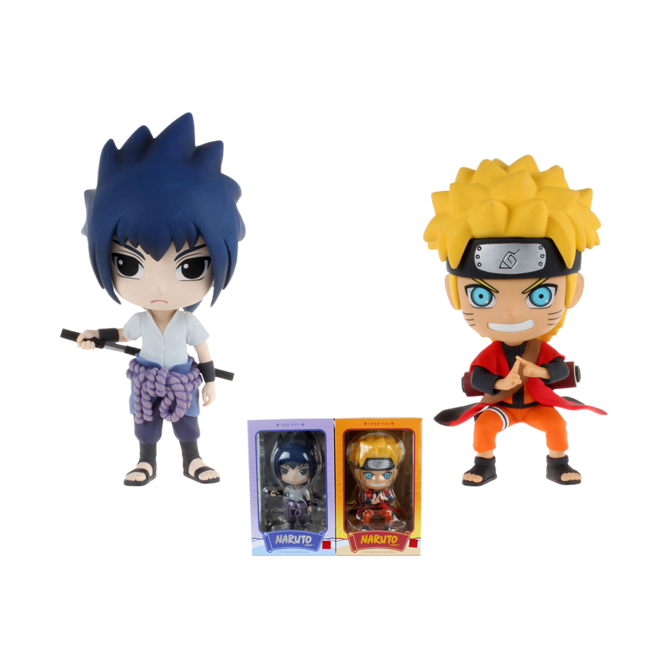 XINDUPLAN Naruto Anime Uzumaki Naruto Uchiha Sasuke Cute Cartoon Figure Action Toys 20cm PVC Kids Gifts Collection Model 0010 naruto action figure toys uchiha sasuke uchiha madara q version anime pvc figure toys dolls model kids best christmas gift