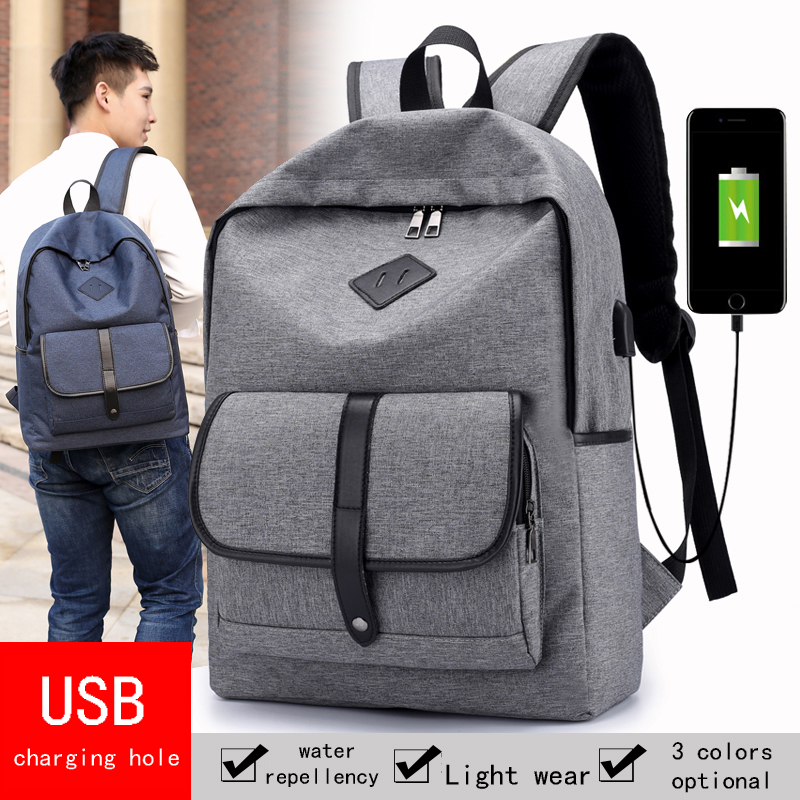 New Patchwork Men Laptop Backpack Anti Theft Polyester Big Capacity Travel Shoulder Bags Daily Pack 14 Inch Quality Backpacks