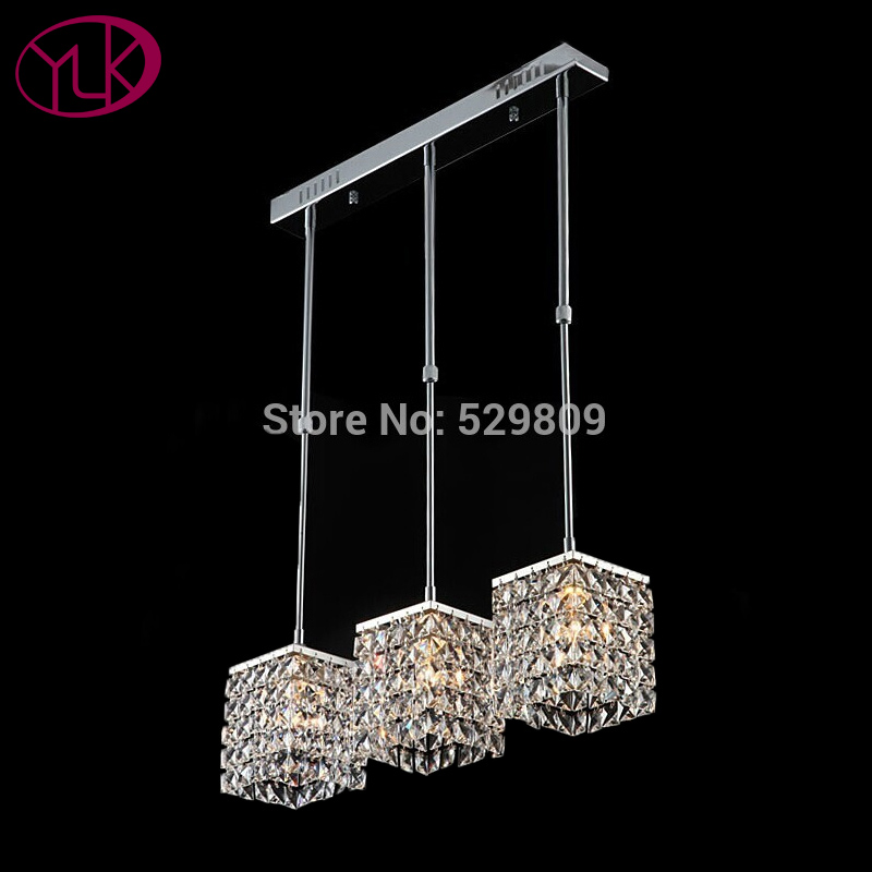 Free Shipping Modern Crystal Chandelier For Dining Room 3 Lights Home Decor Hanging Lustres De Cristal Indoor Lighting Fixture newly modern crystal chandelier living room lustres decoration pendants ac chandeliers crystal home lighting indoor lighting