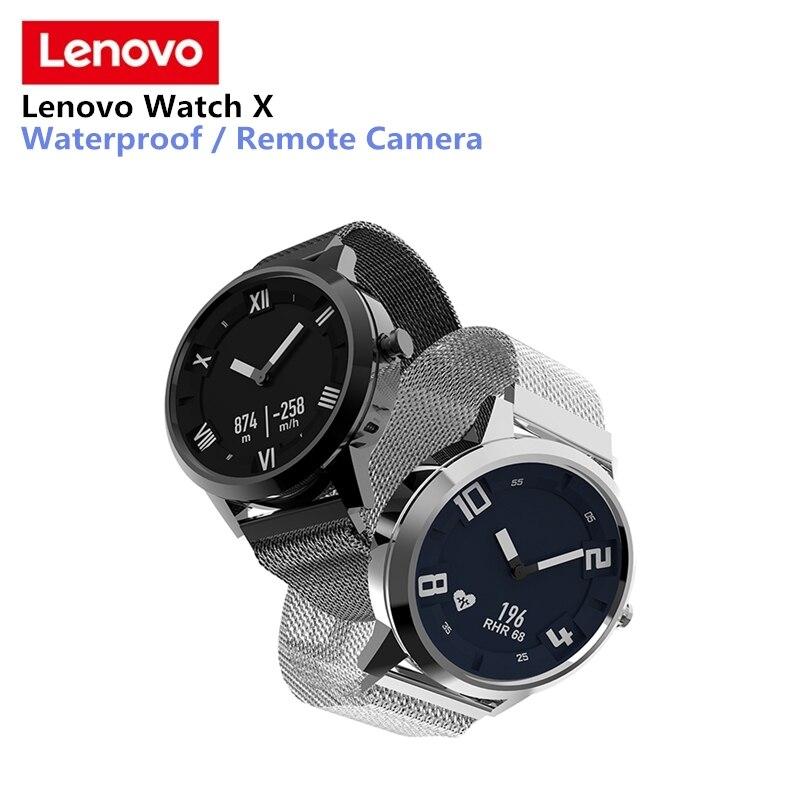 Lenovo Uhr X Smartwatch Wasserdichte Milanese Strap 45 Tage Standby-zeit 80 meter Herz Rate Schlaf Monitor Smart Uhr