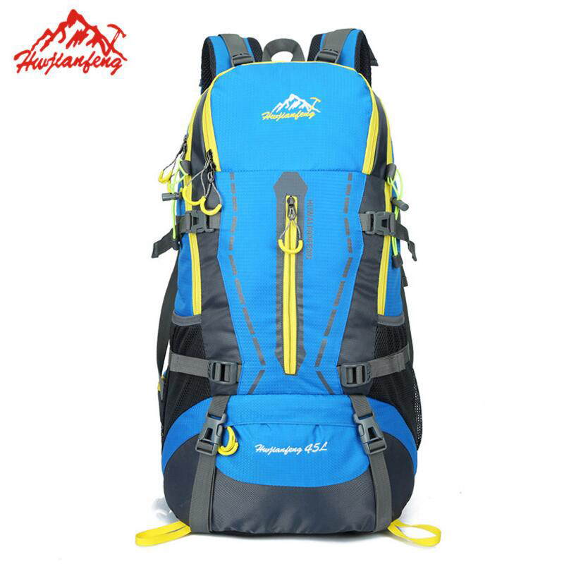 Outdoor Backpack 45L Waterproof Camping Hiking Backpack Men Women Travel Backpack Trekking Sports Bag Climbing Rucksack waterproof travel 50l hiking backpack sports backpack for women men outdoor camping climbing bag mountaineering rucksack