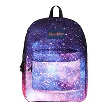 purple Starry laptop backpack feminina backpack Women school Bag teenagers man computer Backpack Boy/Girls SchoolBag fengdong cute lemon printing school backpack kids computer bag children school bags for girls women laptop backpack 14 schoolbag