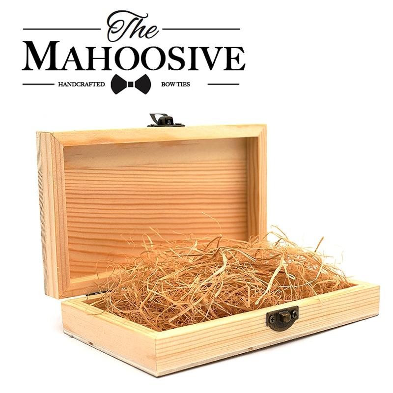 Cajas Mahoosive de madera para lazos de boda, cajas de madera real con tapa, cajas de madera con cerradura dorada para regalos, cajas de madera
