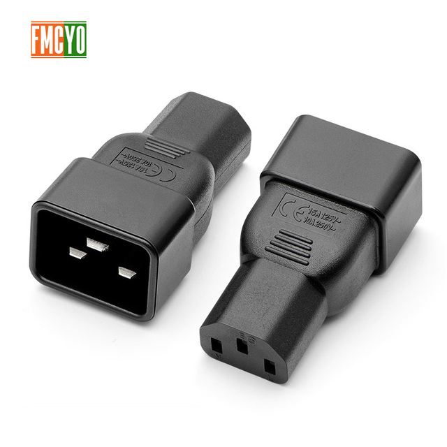 PDU power conversion plug 10a to 16A three vertical hole to three horizontal CE certification word connector C13 to C20 head