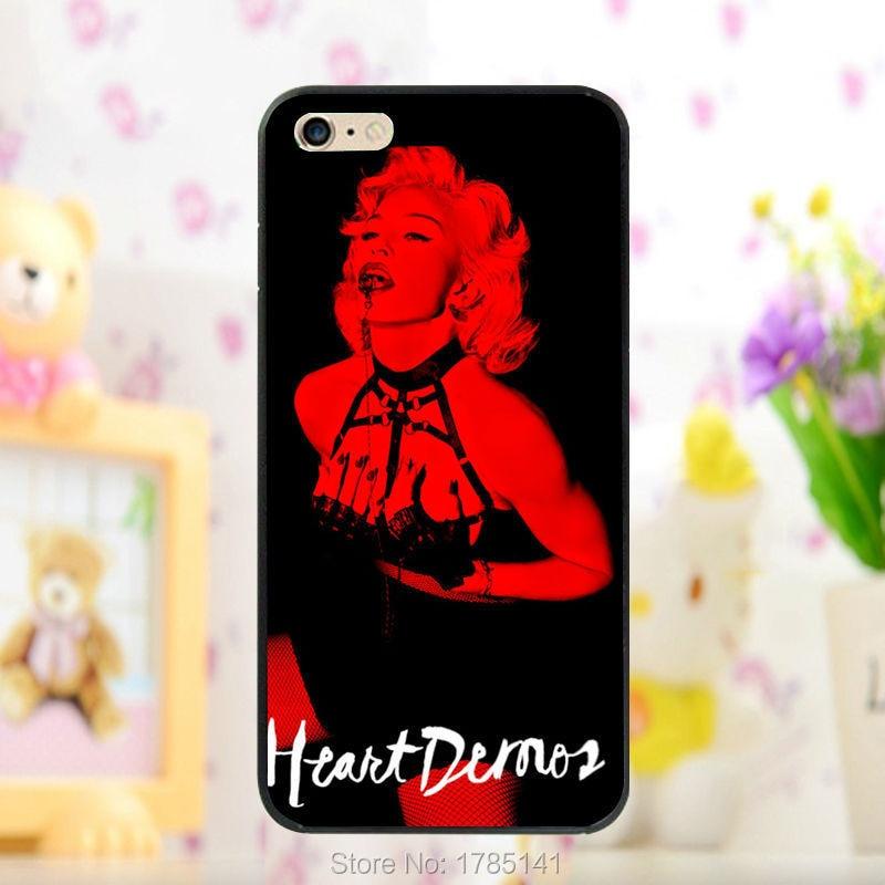 1pcs Rebel Heart madonna hard black Skin Case for iphone 5 5s 4 4g 4S 5c Retail