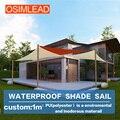 Personalizado HDPE sun sail shade UV Top Dossel Ao Ar Livre Pátio Gramado
