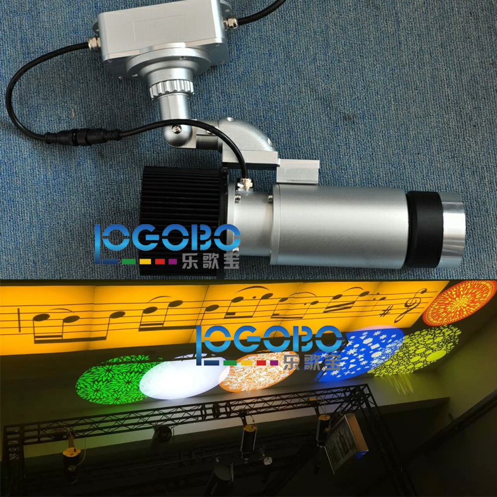 FreeShipping 30W Outdoor Custom Gobo Slide Projector Architecture Laser Projection Led Mobile Advertising Sign Logo Advertisment
