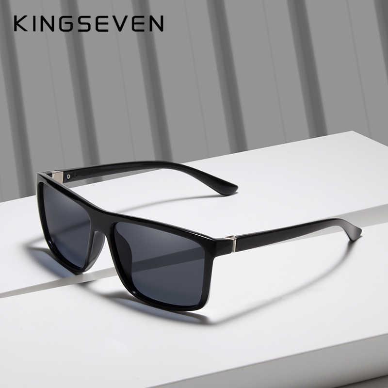 a9cc808603c7 KINGSEVEN Men s Glasses TR90 Polarized Lens Sunglasses Mirror Square Goggle  Eyewear Accessories For Men Female Sun