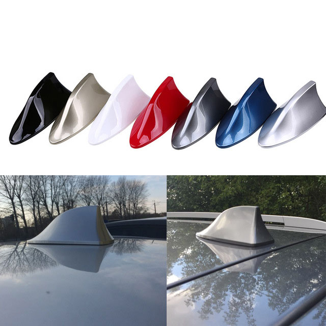 Universal Car Shark Antenna Auto Exterior Roof Shark Fin Antenna FM/AM Signal Protective Aerial Car Styling