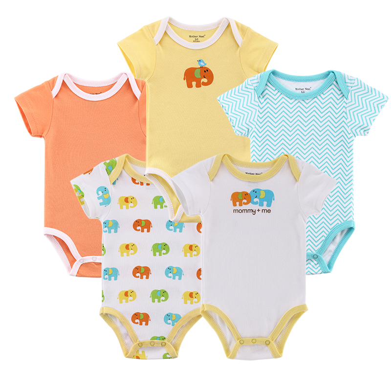 5pcs/lot 2016 New Spring Baby Rompers Newborn Cartoon Clothing Infant Clothes Toddler Underwear Body Jumpsuit