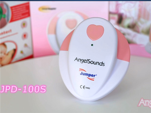 New Package Jumper angelsounds Fetal Doppler Prenatal Heart Monitor Baby Heart Beat 3.0 Mhz Probe Baby Sound 100S for pregnancy