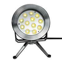 316 Stainless Steel 4pcs Lot DC24V 12 3W 36W Color Changing LED Fountain Light Underwater Lamp