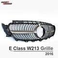 Mercedes W213 Diamantes Corrida Grill Prata Malha Grade Dianteira Para O Benz Classe E W213 2016 E200 E300