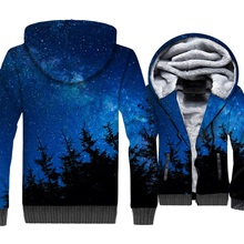 Space Galaxy 3D Hoodies Men Colorful Nebula Sweatshirts Harajuku Coat New Brand Winter Thick Fleece Universe Star Planet Jackets