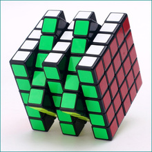New Magic Cube  Classic 5x5x5 black White Toy PVC Sticker Block Puzzle Speed Cube Kids Toys  Magic  Cubo For Children Gift magic prophetic spinning top die toy black white