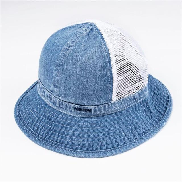 86e15bf3cf8 VOBOOM Denim Bucket Hat Wide Brim Panama Fisherman s Hats Men Women Summer  Bob Fall Mesh Cap Sun Protection Tembel Caps 135