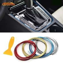 Carcardo 5M Car Styling Interior Decoration Strip Line Moulding Trim Door Dashboard Edge Universal Auto Chrome Strip mayitr 15m 15mm car chrome moulding trim strip tape diy decoration auto door edge guard protector
