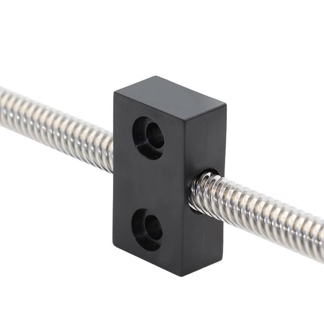 3d เครื่องพิมพ์ nut T openbuilds ประเภท anti - backlash อ่อนนุชบล็อก T8 สกรู 8 มม. สกรูตะกั่ว 2 มม. 4mm 8mm 1 pcs